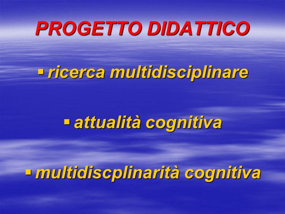 ricerca multidisciplinare multidiscplinarità cognitiva