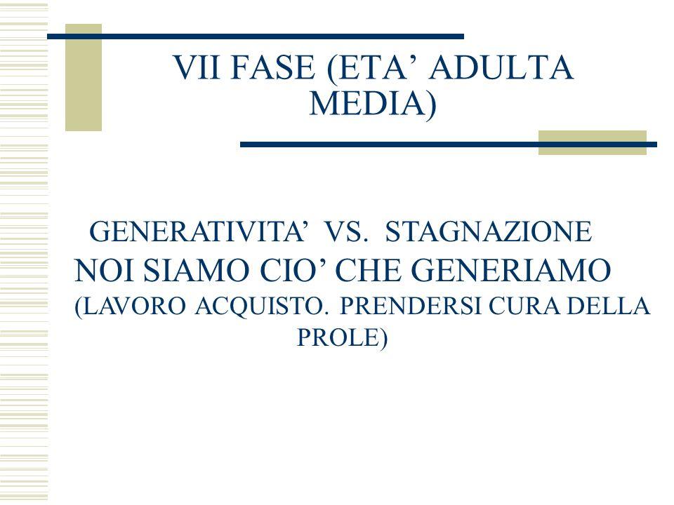 VII FASE (ETA' ADULTA MEDIA)