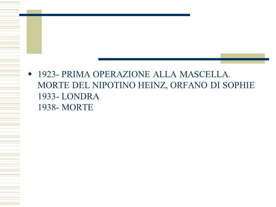1923- PRIMA OPERAZIONE ALLA MASCELLA