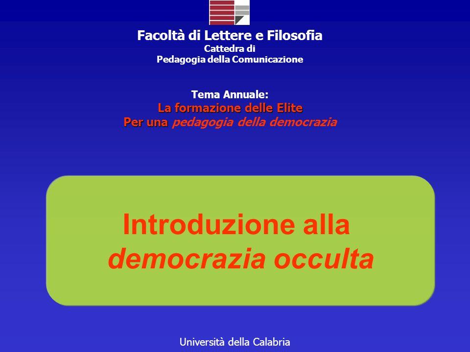 Introduzione alla democrazia occulta