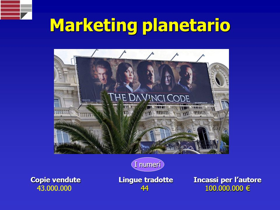 Marketing planetario I numeri Copie vendute 43.000.000 Lingue tradotte