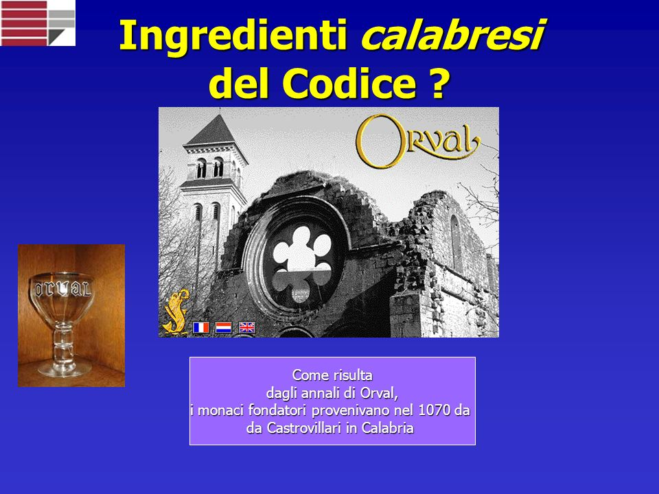 Ingredienti calabresi del Codice