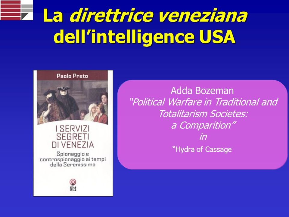 La direttrice veneziana dell'intelligence USA
