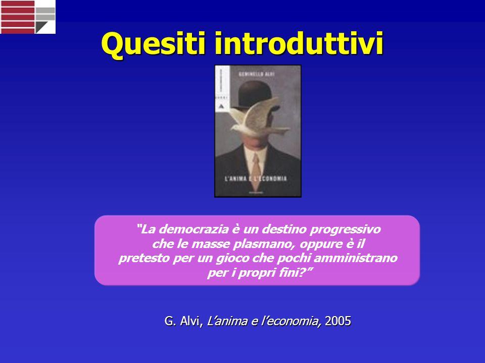Quesiti introduttivi La democrazia è un destino progressivo