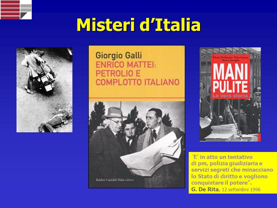 Misteri d'Italia E' in atto un tentativo di pm, polizia giudiziaria e