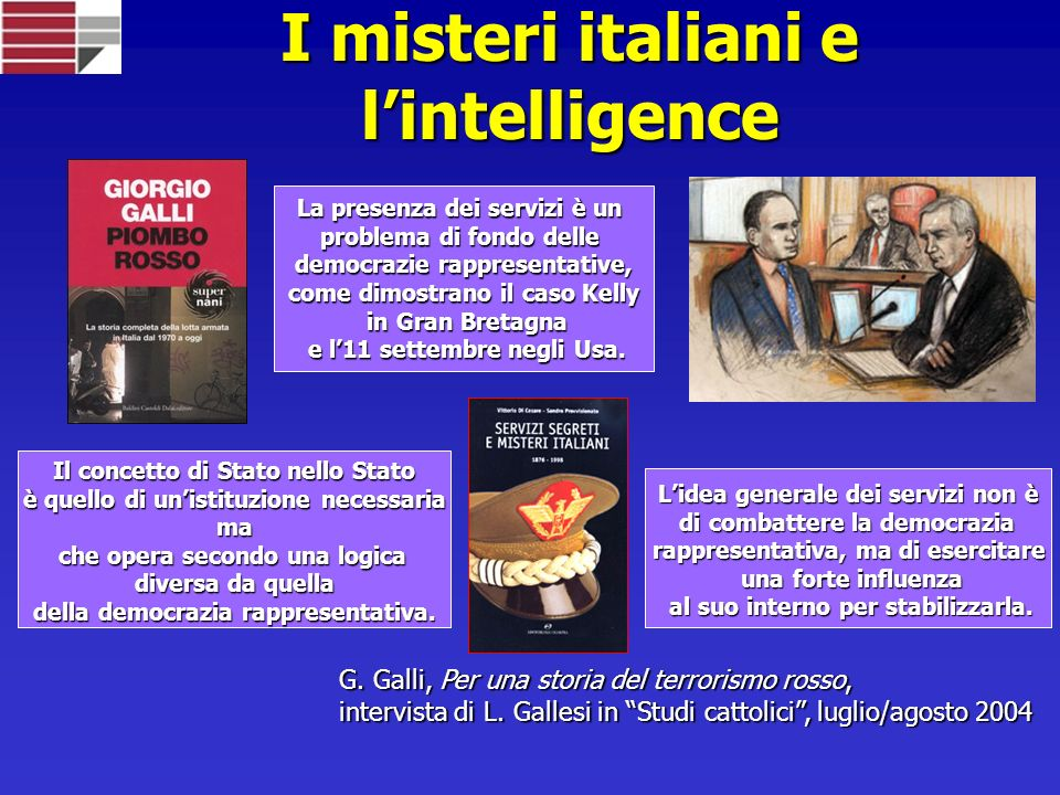 I misteri italiani e l'intelligence