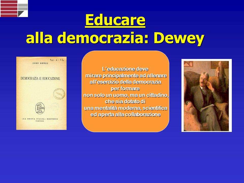 Educare alla democrazia: Dewey