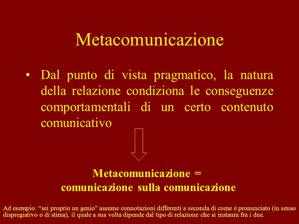 comunicazione sulla comunicazione