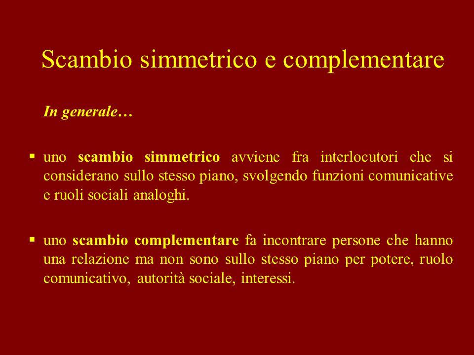 Scambio simmetrico e complementare