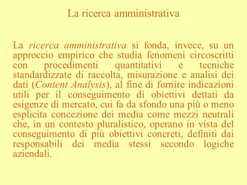 La ricerca amministrativa