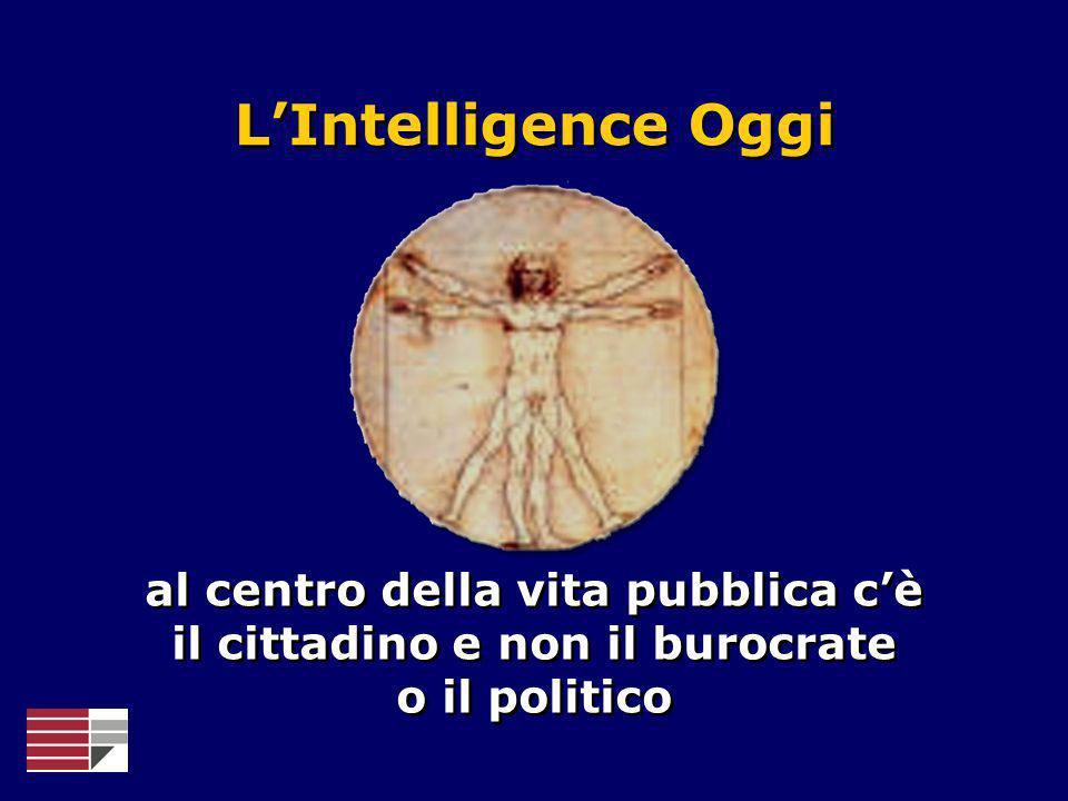L'Intelligence Oggial centro della vita pubblica c'è il cittadino e non il burocrate o il politico.