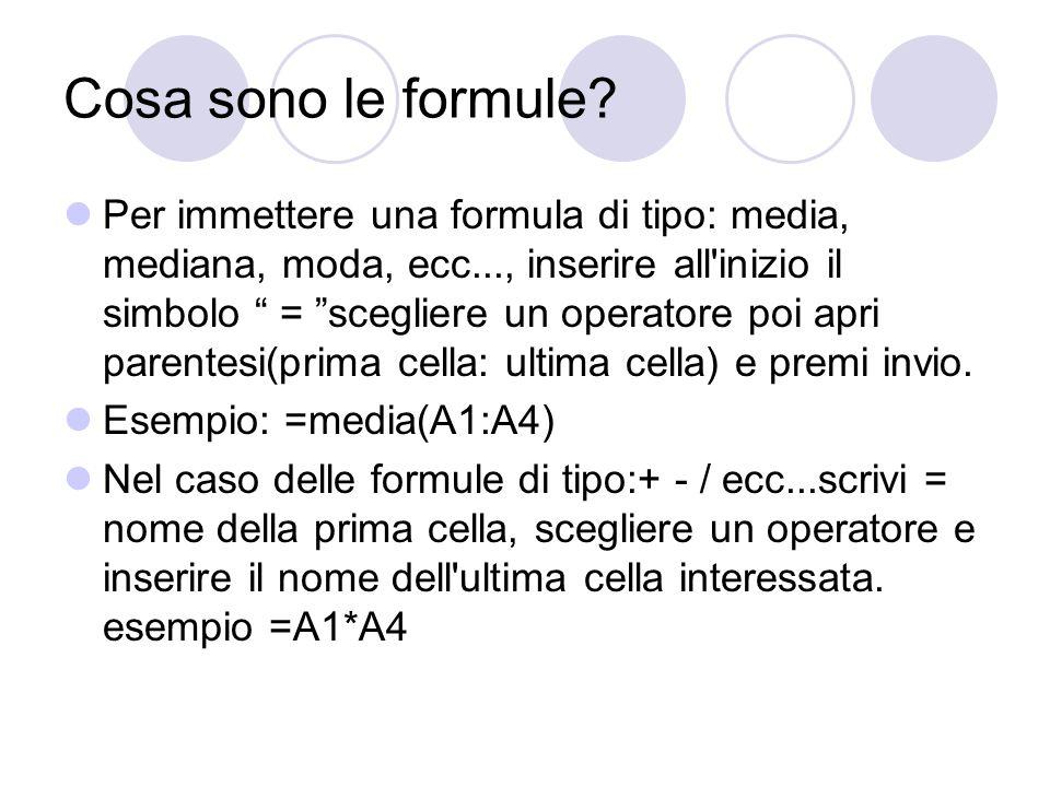 Cosa sono le formule
