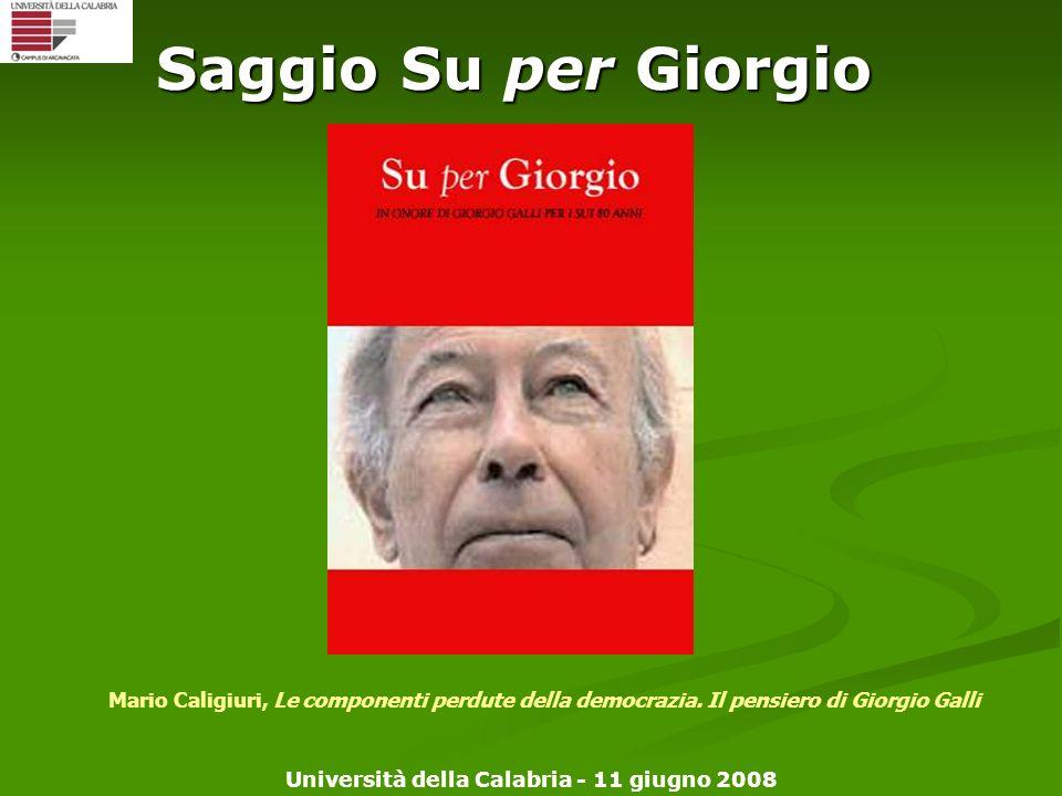 Saggio Su per Giorgio Inserire baldini e castoldi editore sulla copertina.