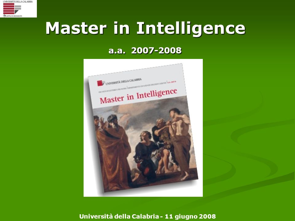Master in Intelligence a.a. 2007-2008
