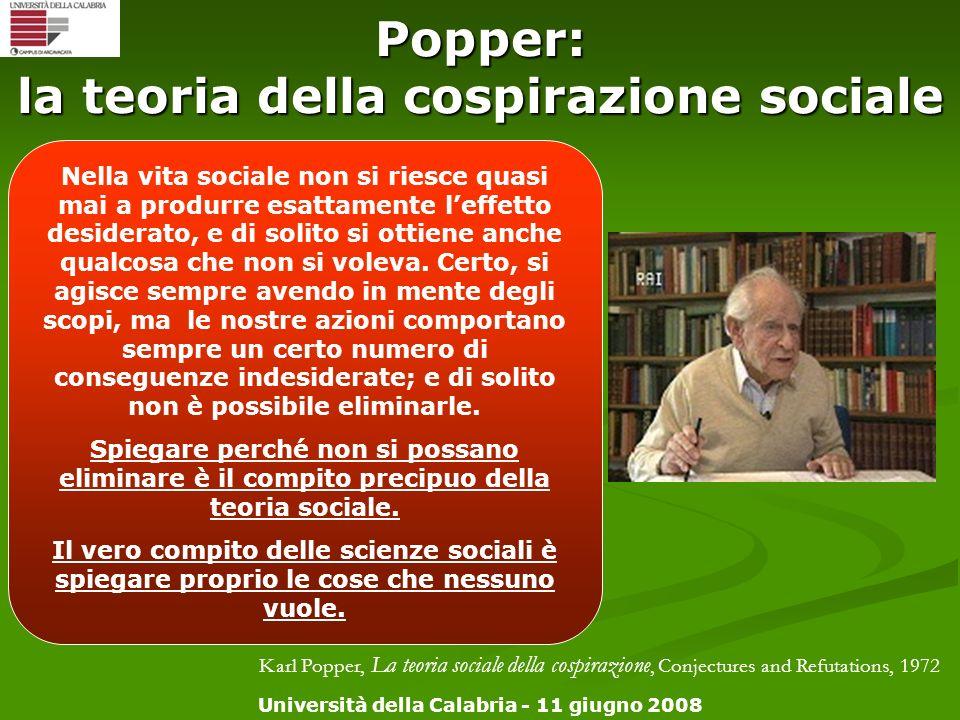 Popper: la teoria della cospirazione sociale