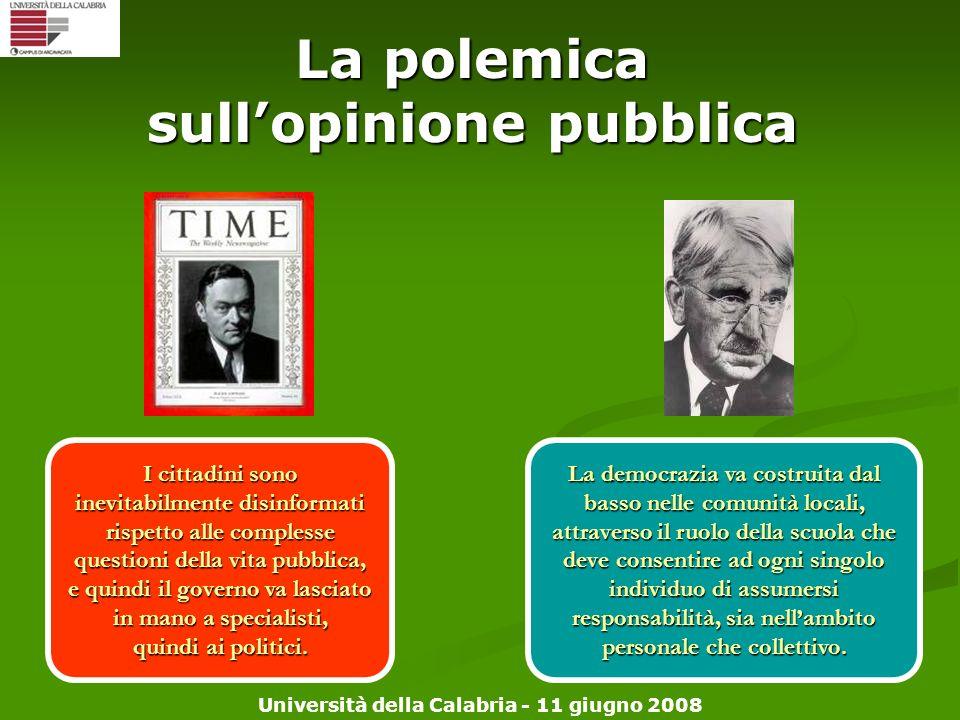La polemica sull'opinione pubblica