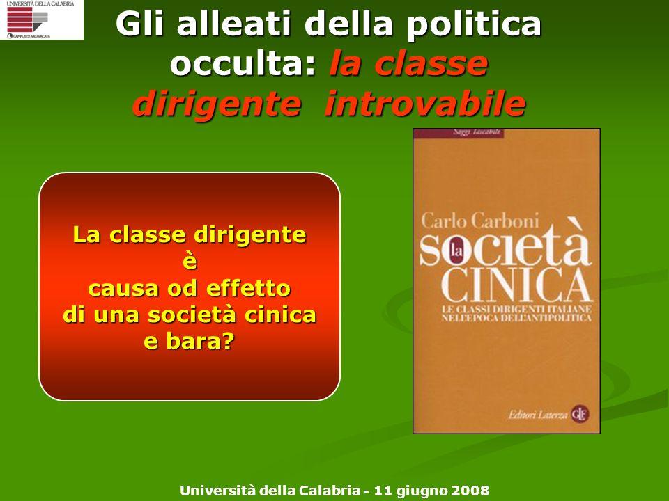 Gli alleati della politica occulta: la classe dirigente introvabile