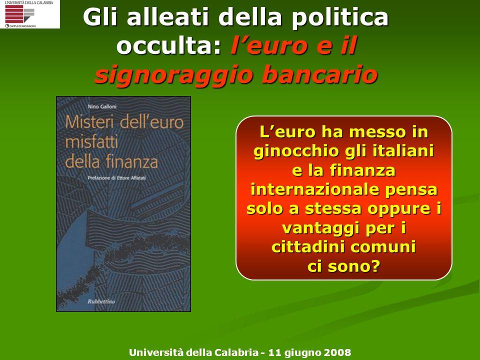Gli alleati della politica occulta: l'euro e il signoraggio bancario
