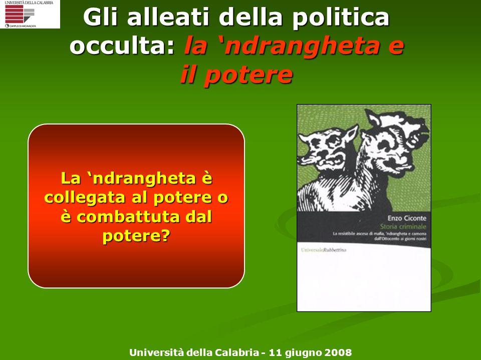 Gli alleati della politica occulta: la 'ndrangheta e il potere