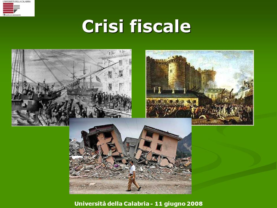 Crisi fiscale Rivoluzione americana e francese
