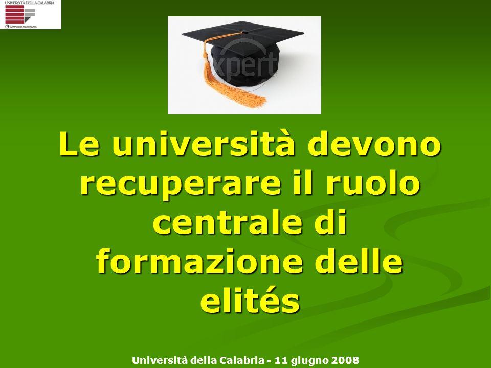 Le università devono recuperare il ruolo centrale di formazione delle elités