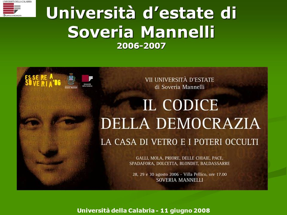 Università d'estate di Soveria Mannelli 2006-2007