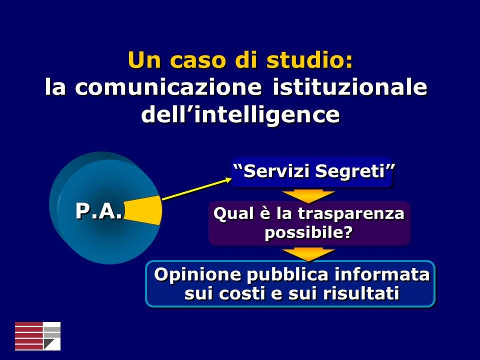 Un caso di studio: la comunicazione istituzionale dell'intelligence