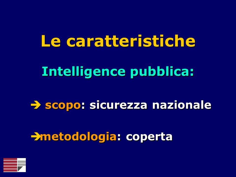 Intelligence pubblica: