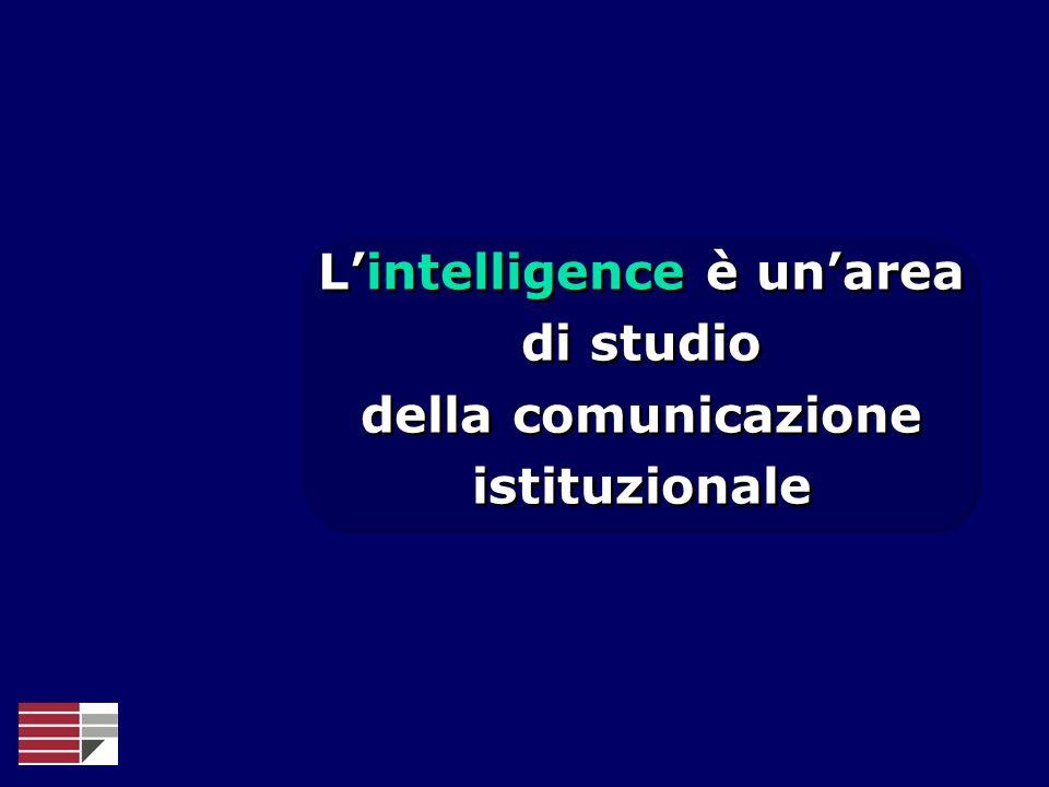 L'intelligence è un'area della comunicazione istituzionale