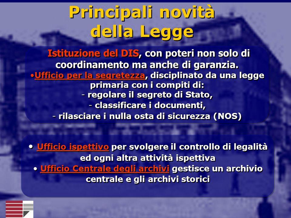 Principali novità della Legge
