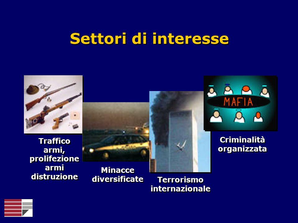 Settori di interesse Criminalità organizzata