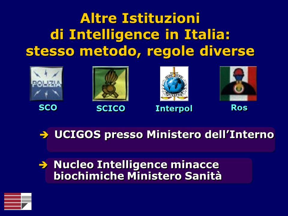 Altre Istituzioni di Intelligence in Italia: