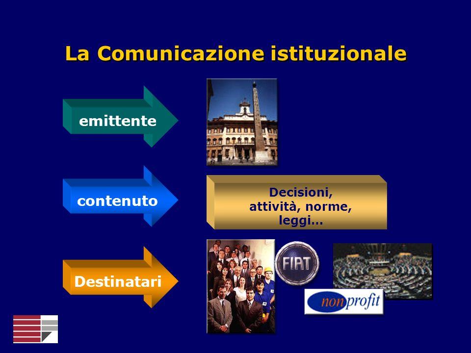 La Comunicazione istituzionale