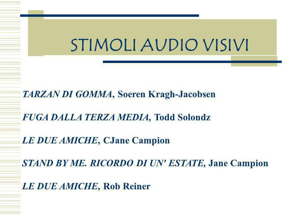 STIMOLI AUDIO VISIVI TARZAN DI GOMMA, Soeren Kragh-Jacobsen