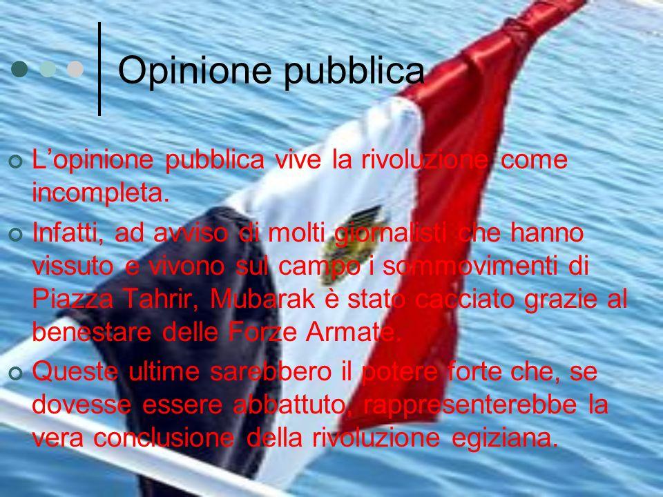 Opinione pubblica L'opinione pubblica vive la rivoluzione come incompleta.