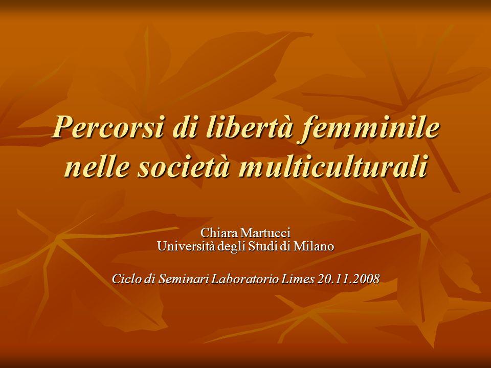 Percorsi di libertà femminile nelle società multiculturali