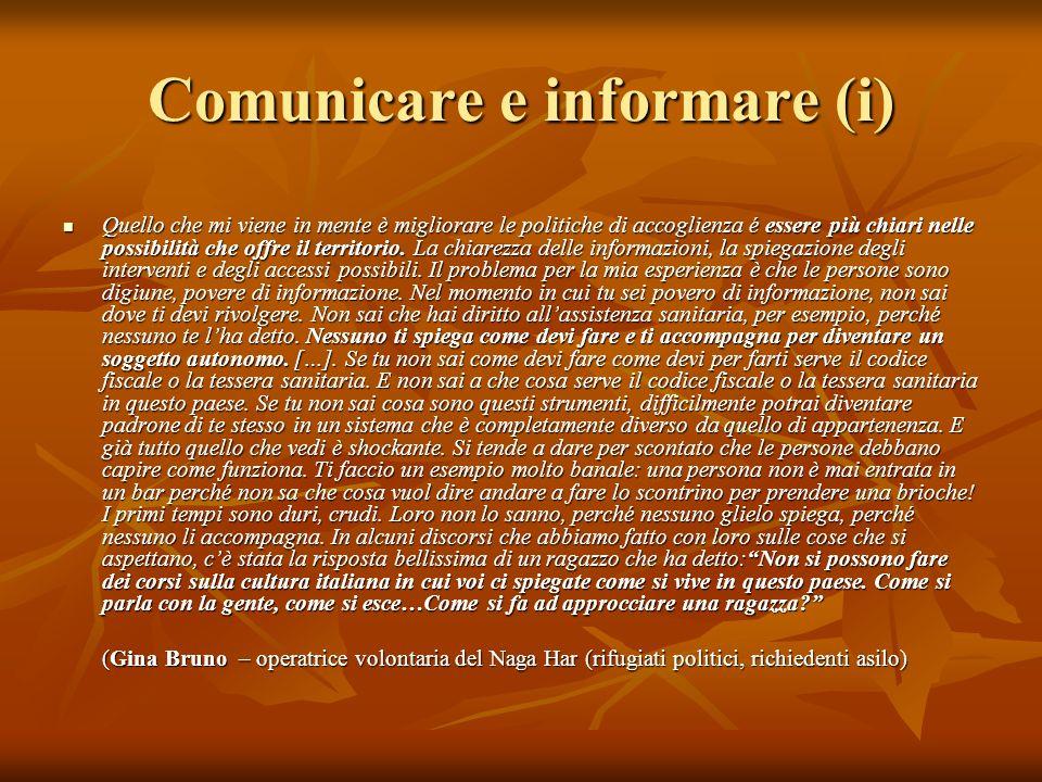 Comunicare e informare (i)