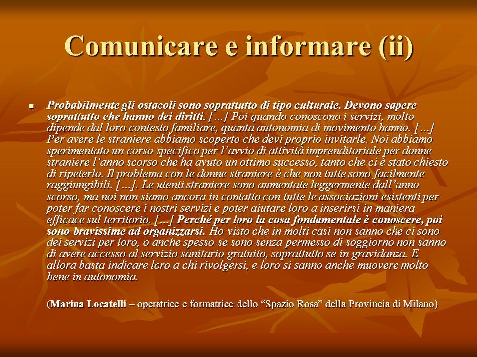 Comunicare e informare (ii)