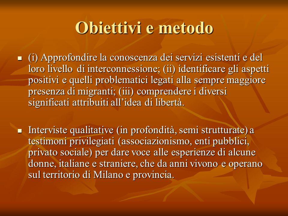 Obiettivi e metodo