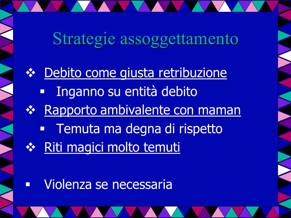 Strategie assoggettamento