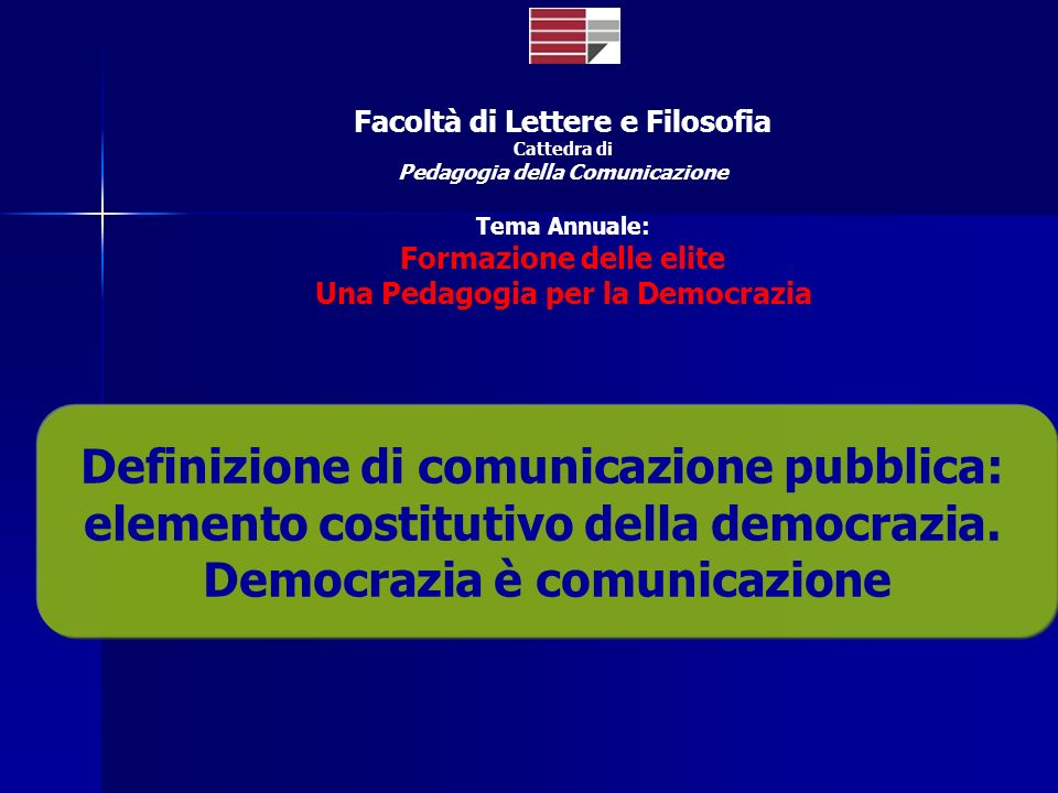Definizione di comunicazione pubblica: