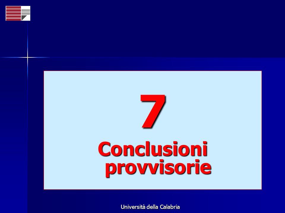 Conclusioni provvisorie