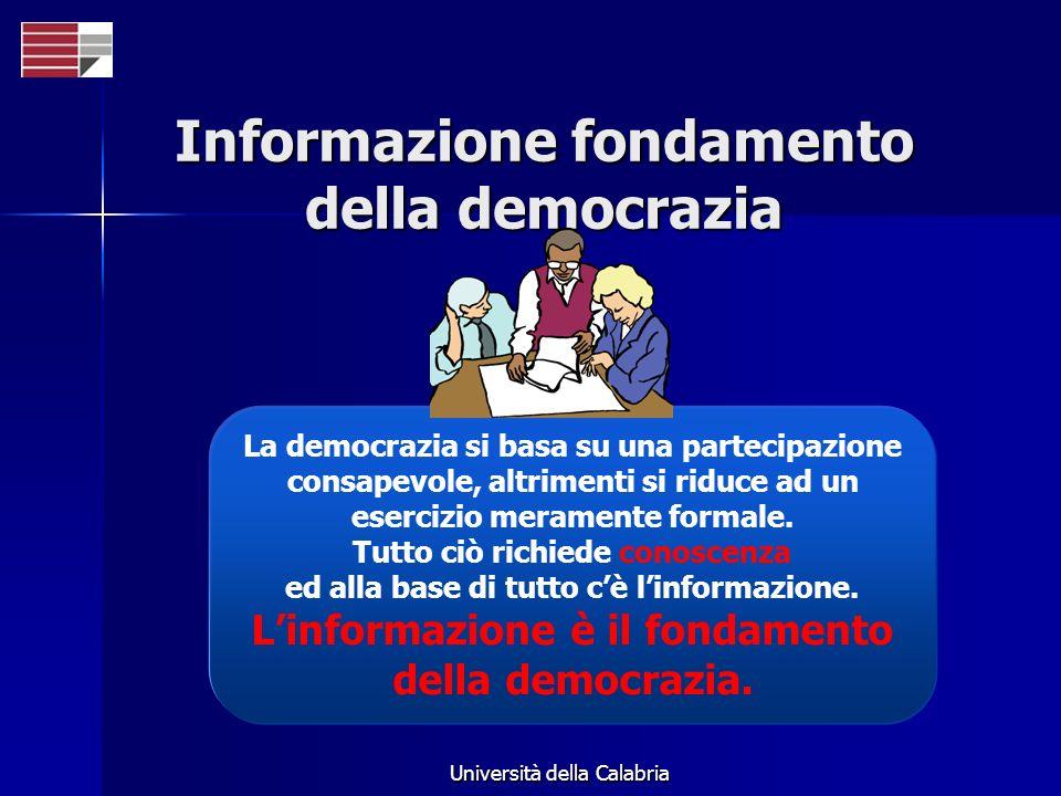 Informazione fondamento della democrazia