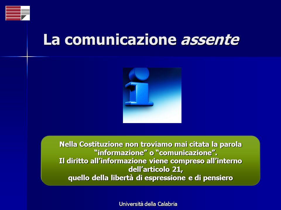 La comunicazione assente