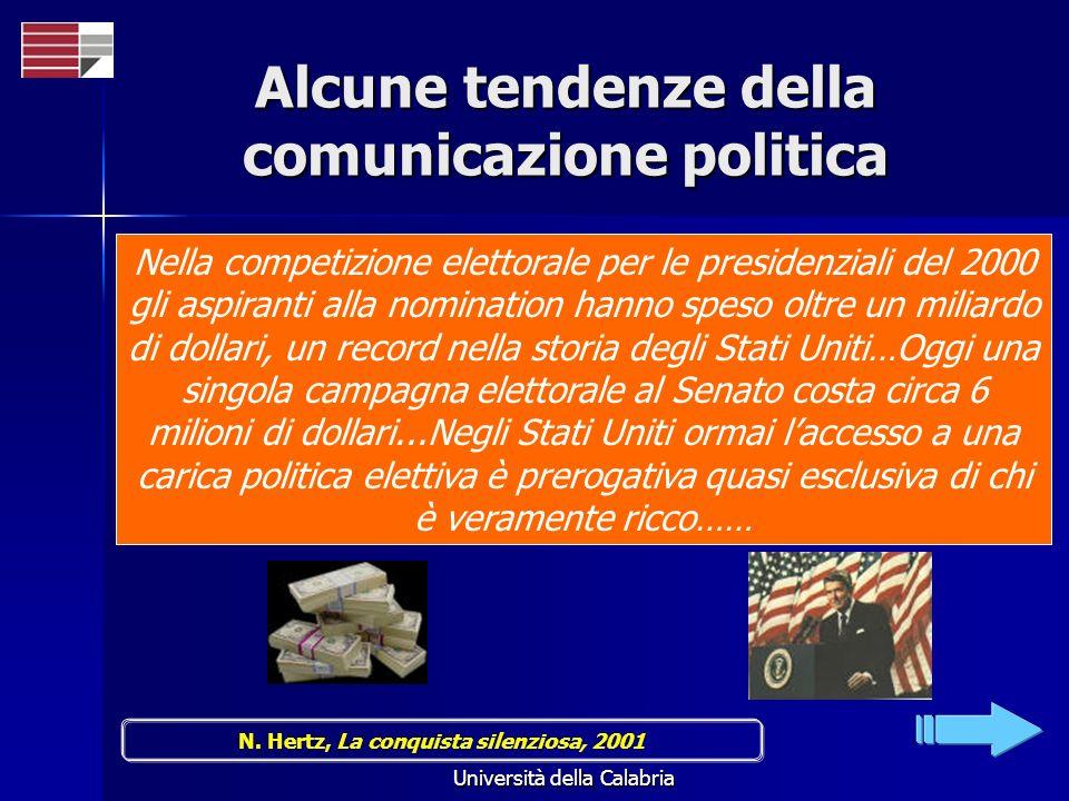Alcune tendenze della comunicazione politica
