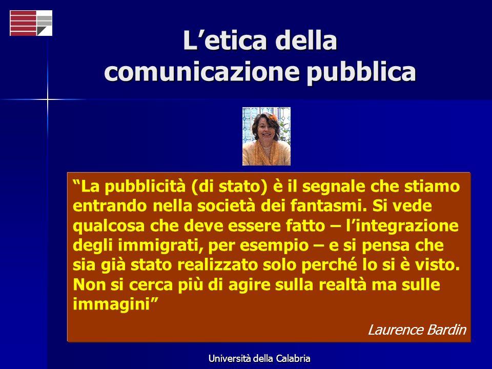 L'etica della comunicazione pubblica
