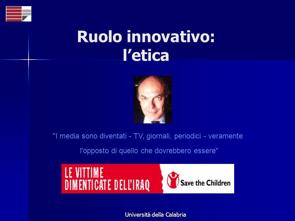 Ruolo innovativo: l'etica