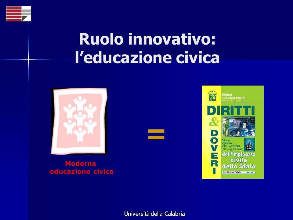 Ruolo innovativo: l'educazione civica
