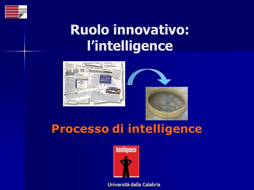 Ruolo innovativo: l'intelligence