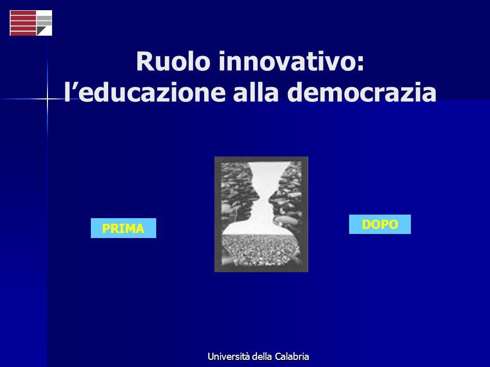 Ruolo innovativo: l'educazione alla democrazia